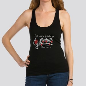 Musical note love hearts Racerback Tank Top